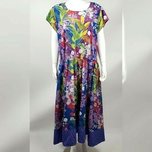 ESHAKTI Floral Dress with Pockets 2X 22W
